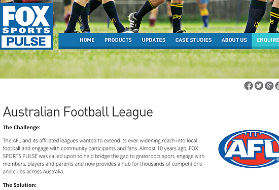 Click the image above to read our AFL case study.